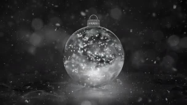 Sněhové vločky vánoční nový rok White Ice skleněná cetka dekorace pozadí smyčky