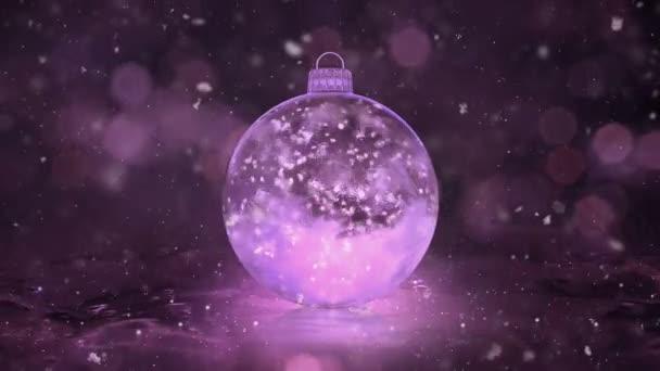 Sněhové vločky vánoční novoroční růžové ledu skleněná cetka dekorace pozadí smyčky