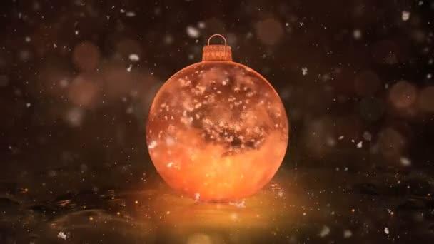 Weihnachten golden Eis Glaskugel Dekoration Schneeflocken Hintergrund Schleife