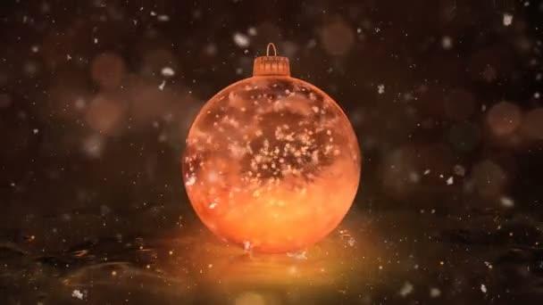 Vánoční rotující Golden ledu skleněná cetka dekorace vločky pozadí smyčka