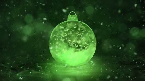 Sněhové vločky vánoční nový rok Green Ice skleněná cetka dekorace pozadí smyčky