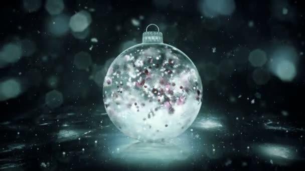Karácsonyi szürke Noir jég pohár csecsebecse a hóban színes szirmok háttér hurok