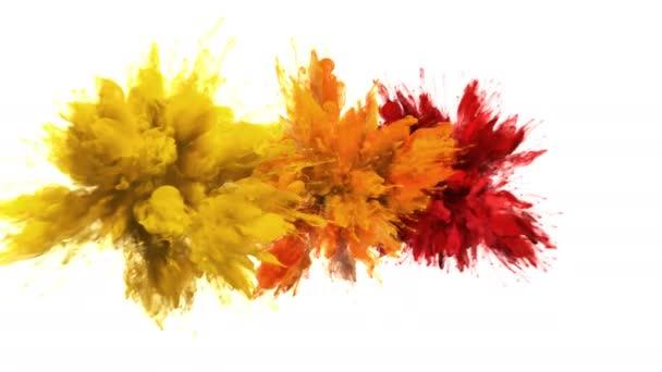 Barevný shluk-vícenásobný barevný kouř výbuchy kapalinové částice alfa podklad