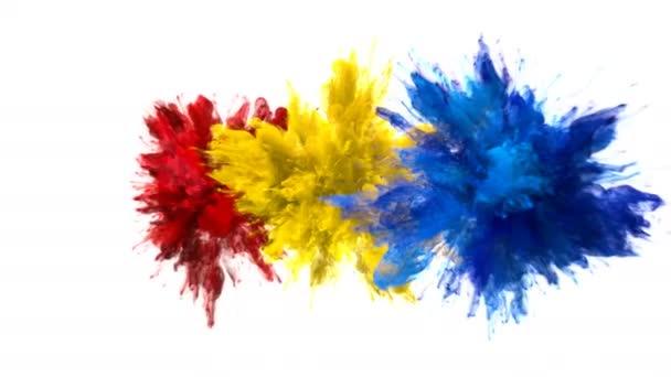 Color Burst - mehrere bunte Rauchexplosionen Flüssigkeitspartikel alpha matt