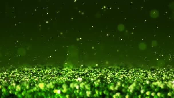 grün glänzend glitter nahtlose Schleife abstrakte Textur Nahaufnahme Makrohintergrund