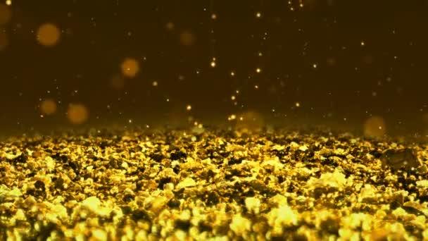 Golden Shiny csillogás varrat nélküli hurok absztrakt textúra közelről makró háttér