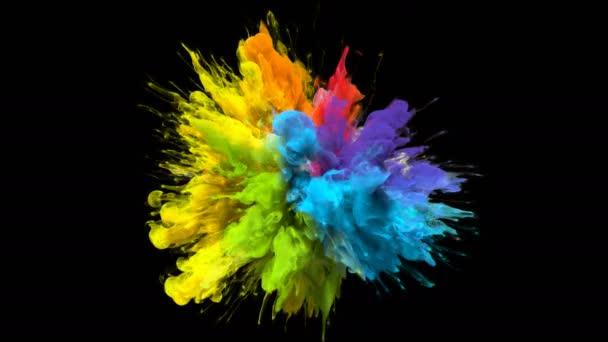 Color burst irizáló színes szivárványos por robbanás folyadék tinta részecskék