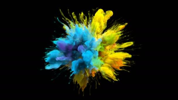 Farbe Burst irisierend bunte Regenbogenpuder Explosion flüssigen Farbpartikeln