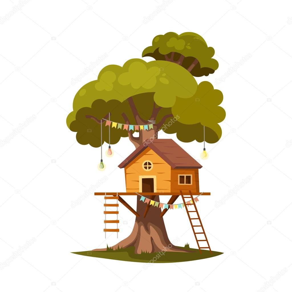 Tree House For Playing And Parties House On Tree For Kids Children Playground Wooden Town Rope Park Between Green Foliage Summer Camp Vacation Flat Cartoon Style Illustration Isolated Premium Vector In Join franklin and his family as he leaves woodland on a special journey to the north and south pole! wdrfree
