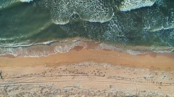 Letecký pohled na moře. pohled shora.