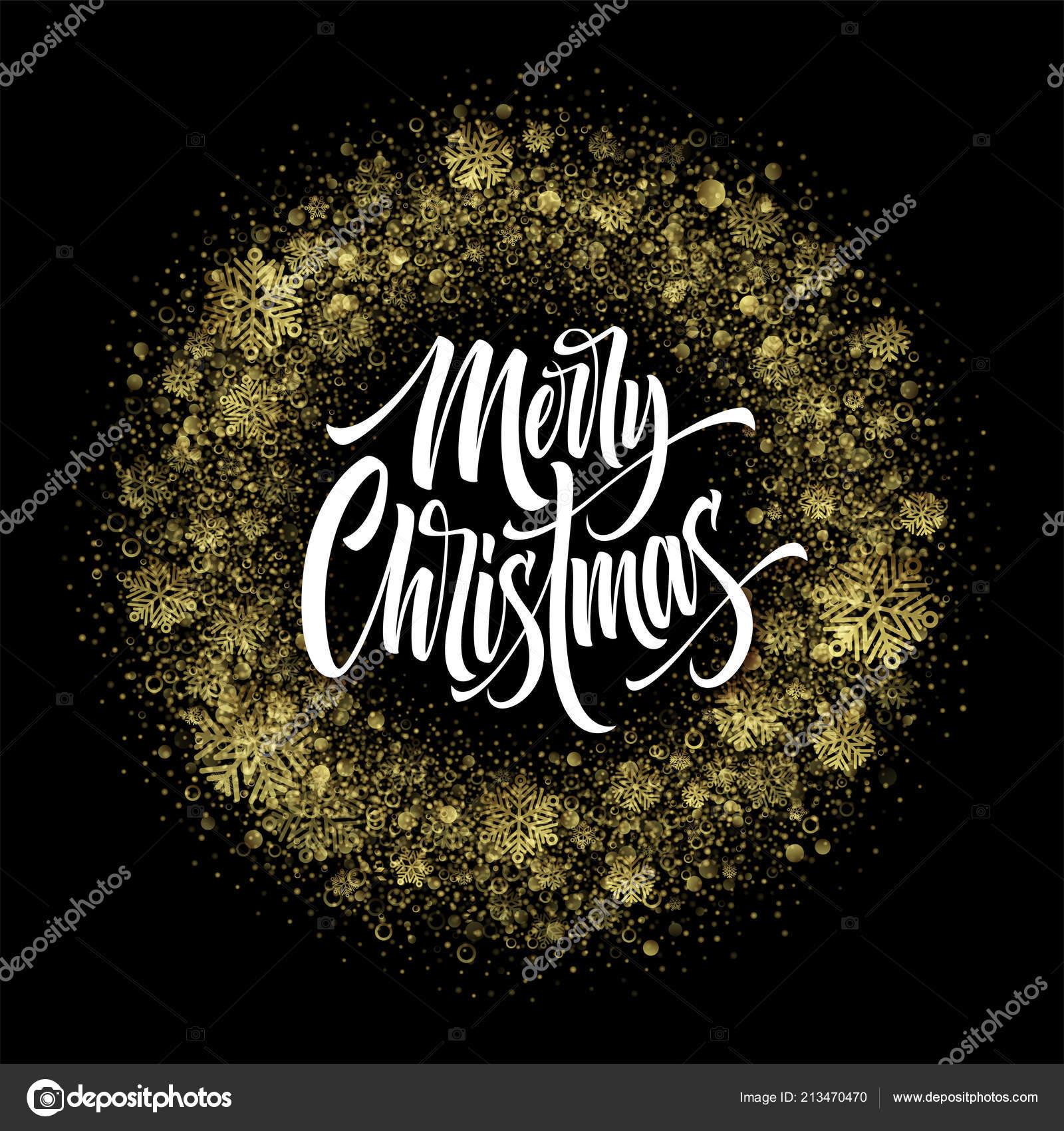 Frohe Weihnachten Glitzer.Frohe Weihnachten Schriftzug In Glitzer Rahmen Stockvektor Vik Y