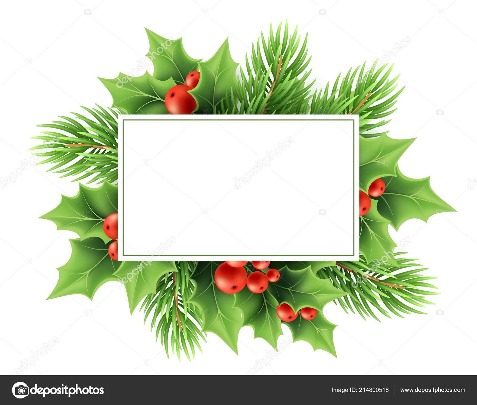 Christmas Greeting Card Vector Template Stock Vector Viky