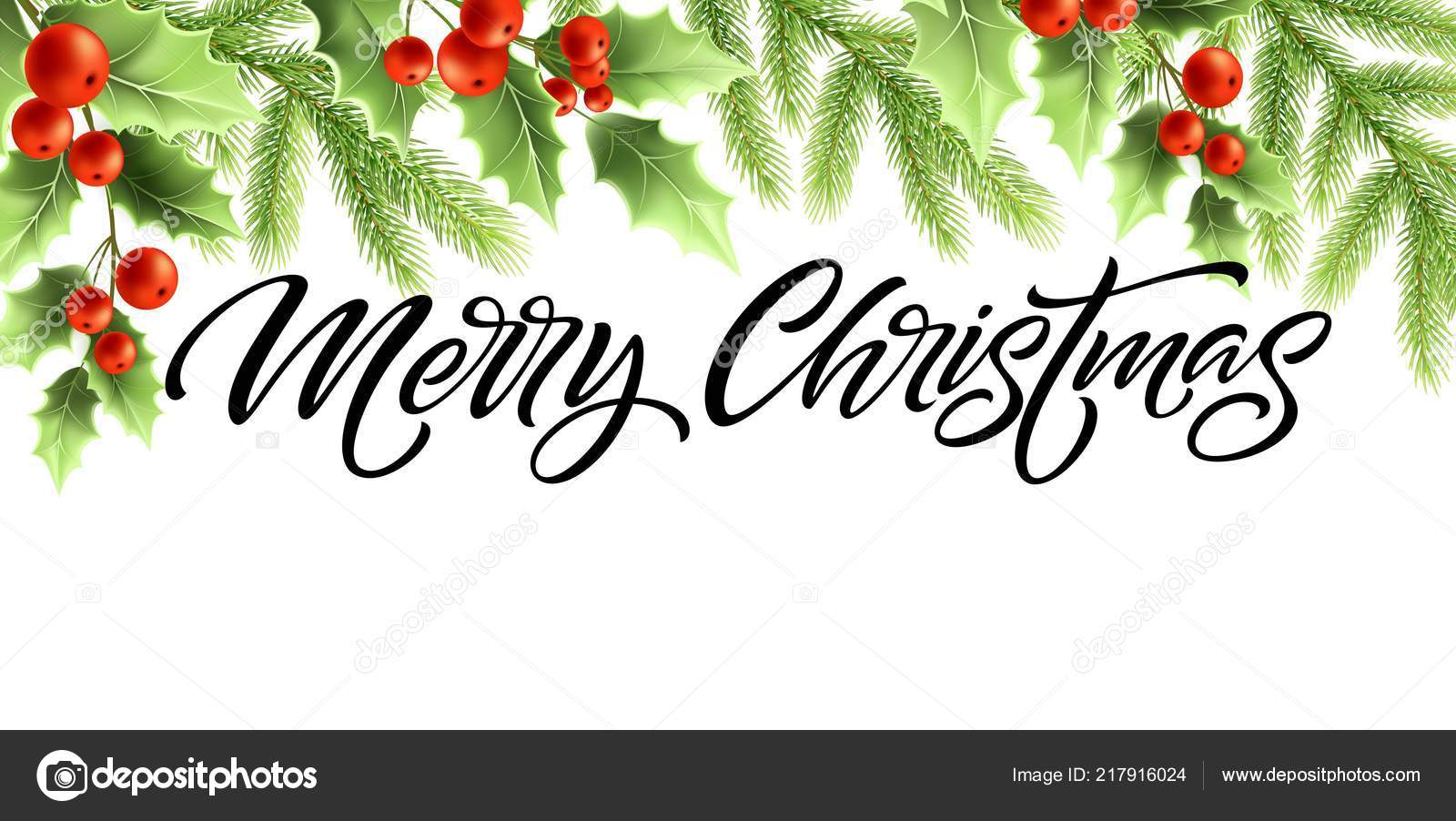merry christmas and happy new year banner design stock vector