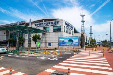 Jeju ferry terminal at Jeju-si, Jeju Island, South Korea