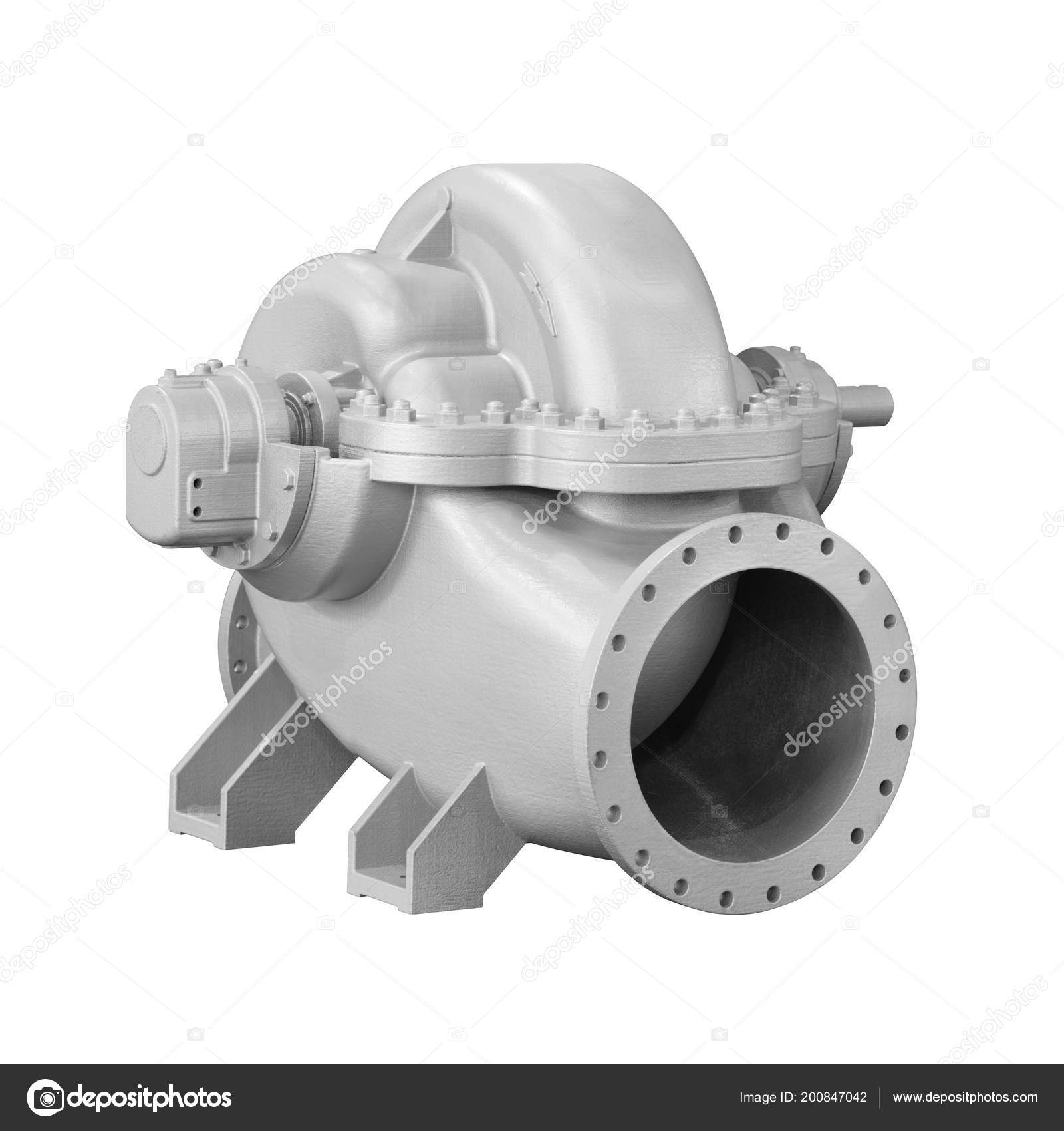 Close Detail Cross Section Impeller Electric Centrifugal