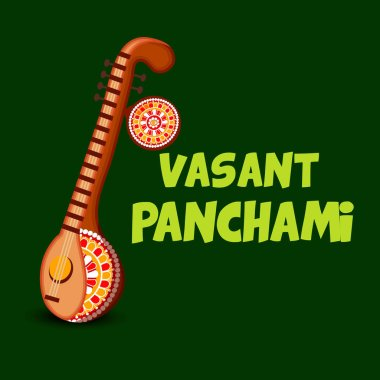 Vector illustration of a Background/Banner for Vasant Panchami.