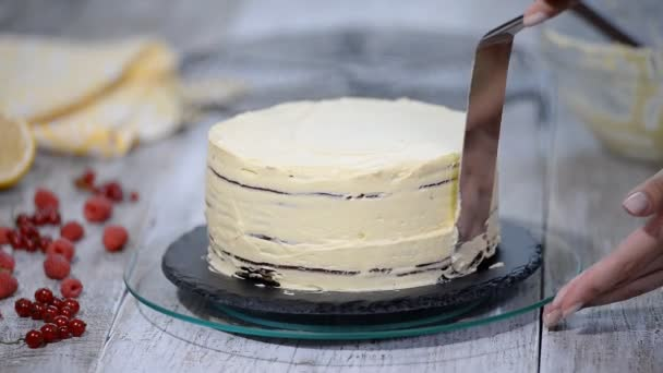 Čokoládová vrstva medovník Medovik. Profesionální cukráři, takže lahodný dort.