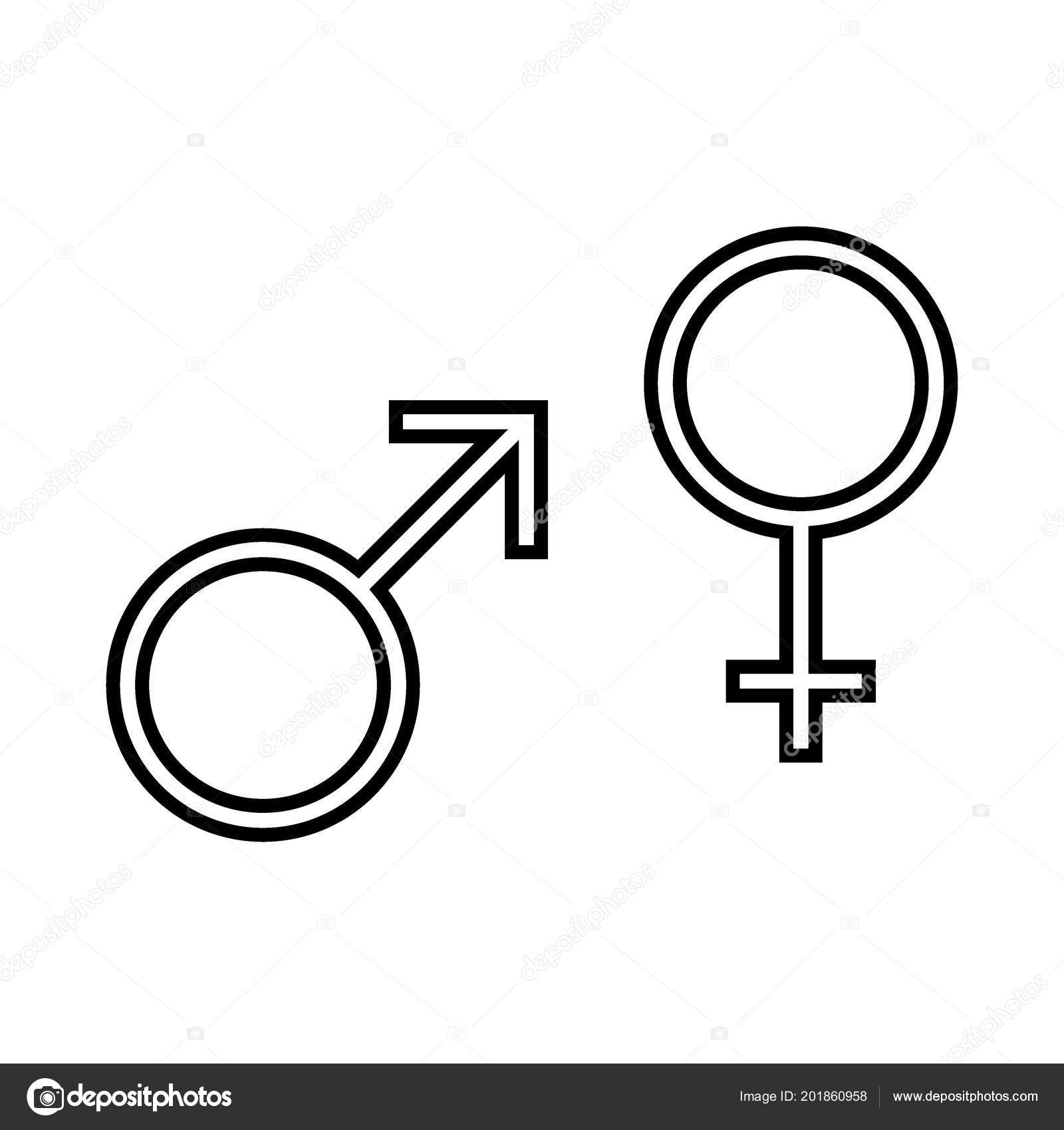 Male Female Symbol Set Logo Gender Symbols Vector Illustration