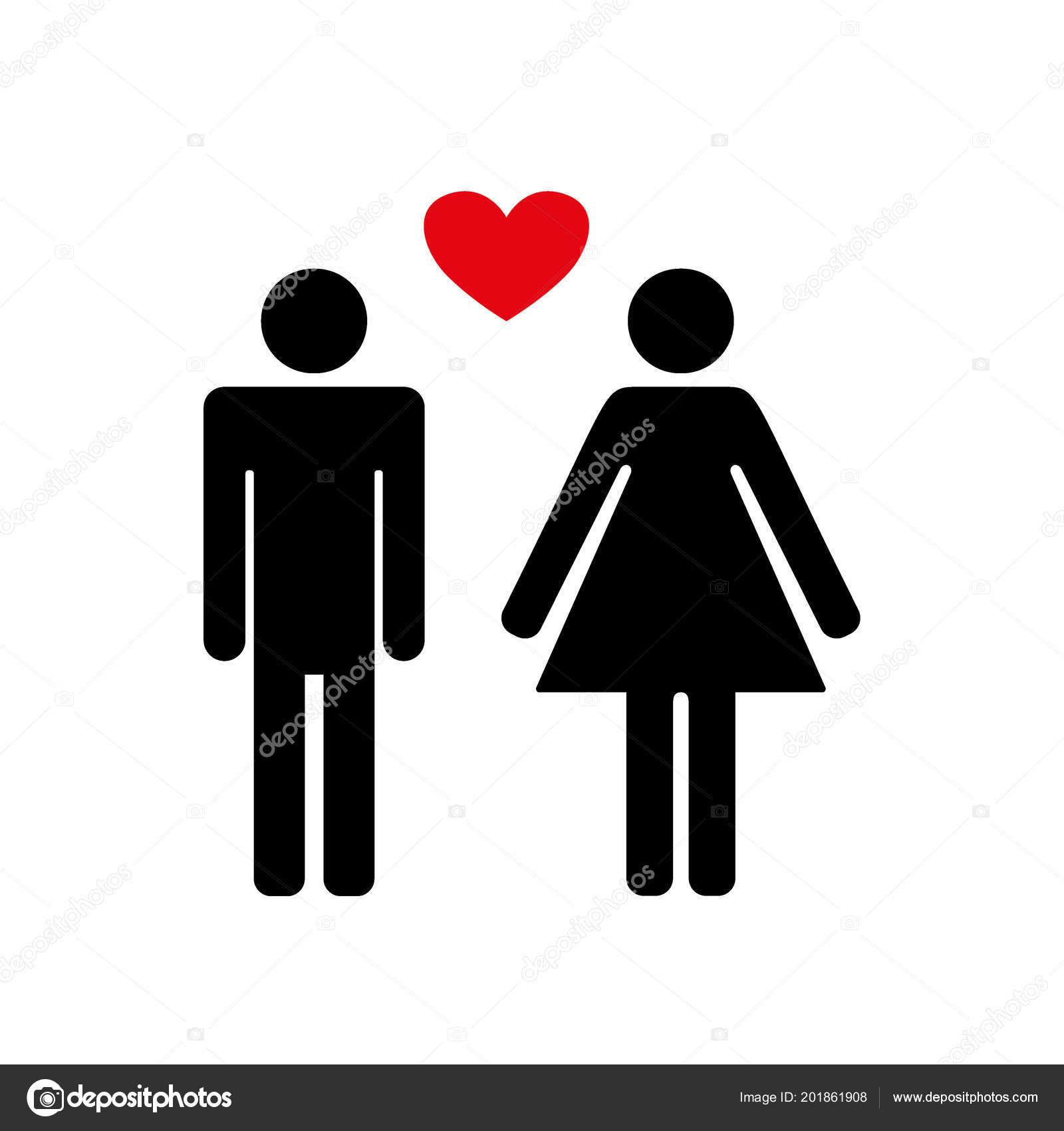 Male Female Symbol Set Logo Family Symbol Heart Gender Symbols