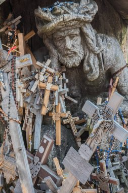 Hill of crosses, Kryziu kalnas, a famous site of pilgrimage in northern Lithuania