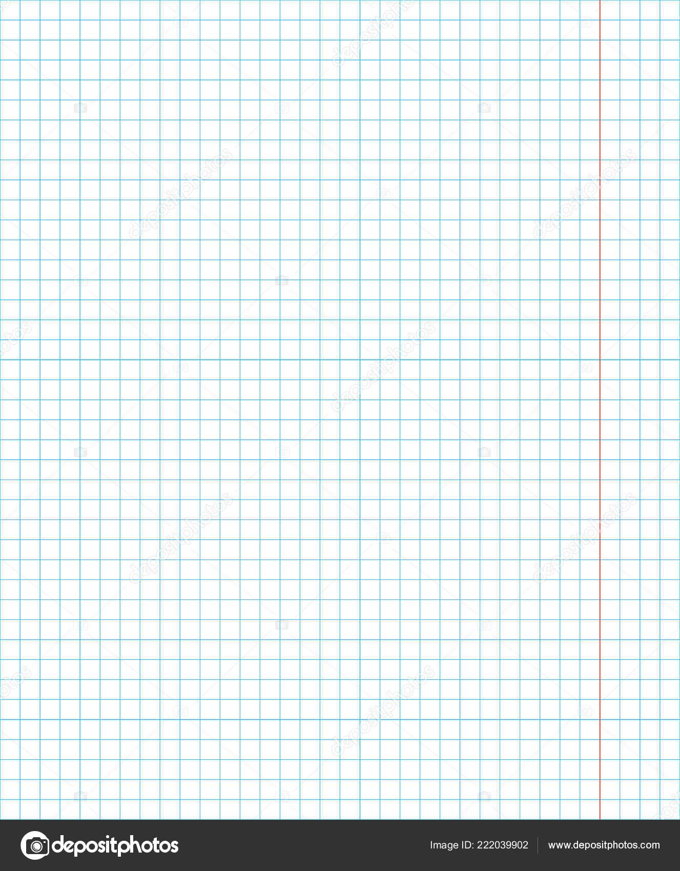 standard notebook sheet vertical cage 5 millimeter pattern of school