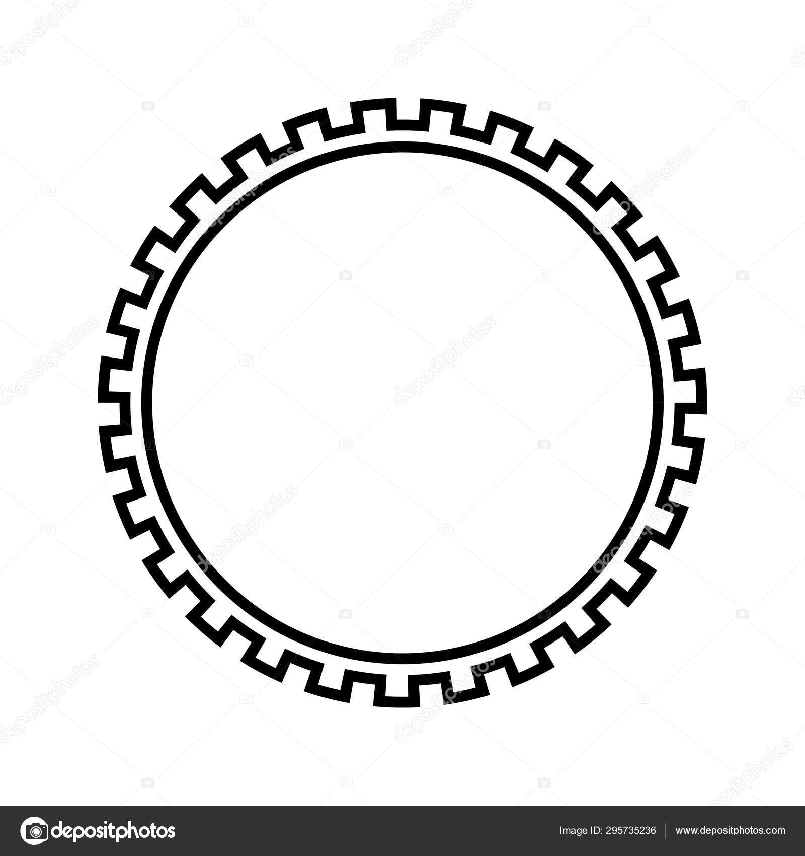 Greek Key Round Frame. Typical Egyptian, Assyrian And Greek Motives..  Royalty Free Cliparts, Vectors, And Stock Illustration. Image 119493299.