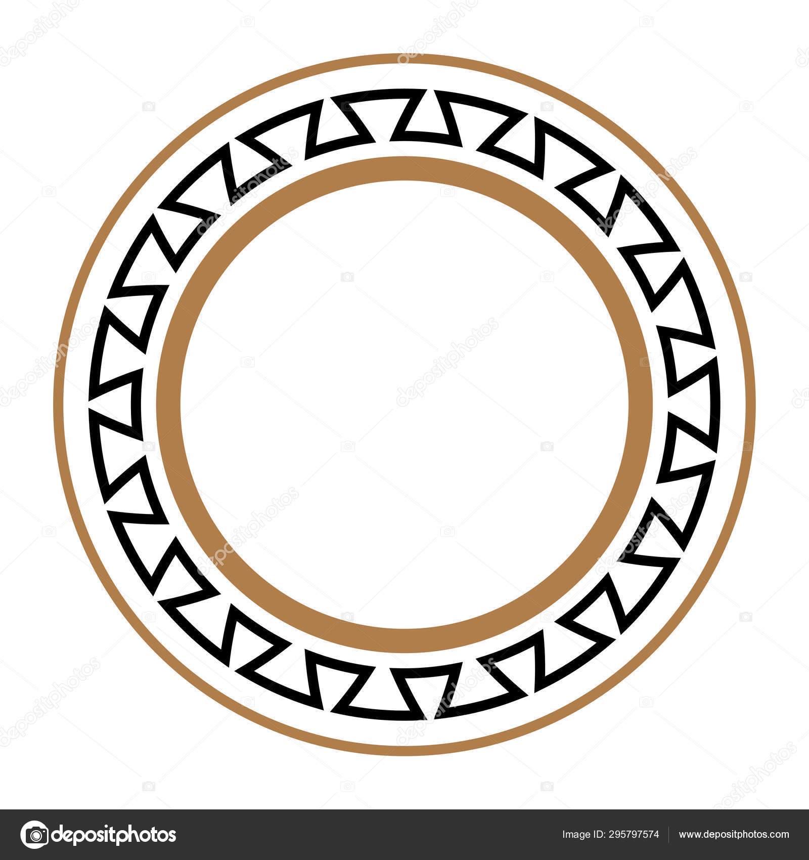 Greek Key Round Frame. Typical Egyptian, Assyrian And Greek Motives..  Royalty Free Cliparts, Vectors, And Stock Illustration. Image 119493323.