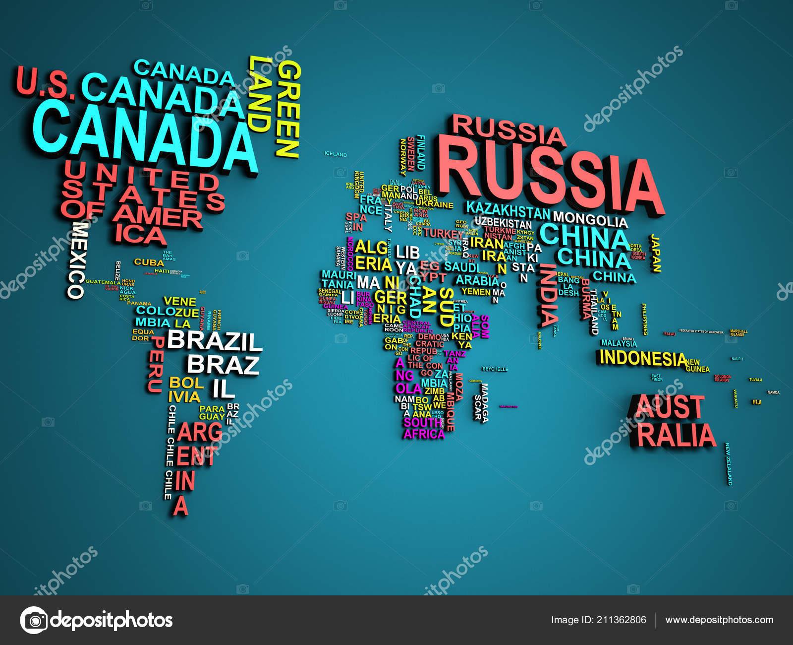 world map all states names illustration blue fotografias de stock