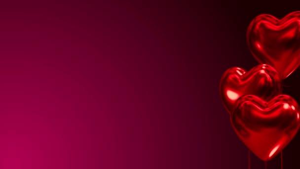 14. Februar Valentinstag Luftballons steigen rechts auf