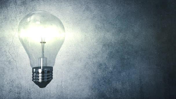 4k tvůrčí inovace žárovka a koncepce řešení idea na pozadí