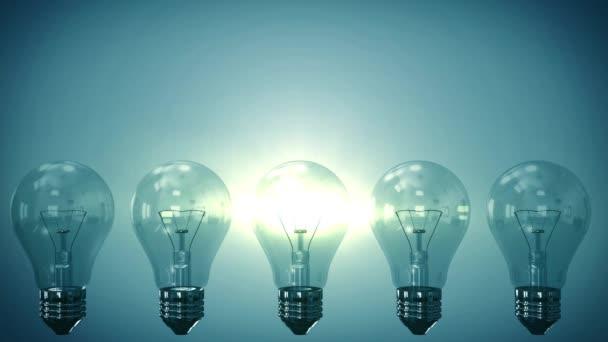 4k Glühbirne auf dem Hintergrund. Kreative Innovation und Lösungskonzept