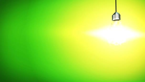 Explodierende Glühbirne 4k kreatives Konzept Innovation Idee auf Hintergrund