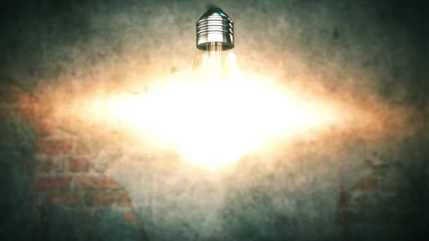 Exploding light bulb 4K Creative innovation idea and solution concept background
