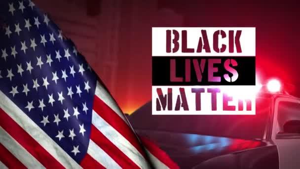 Nemůžu dýchat na černých životech. Vlajková Amerika. Protestní vzpoura proti lidskému právu černochů v USA