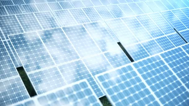 3D rendering solar power generation technology. Alternative energy. Solar battery panel modules with blue sky
