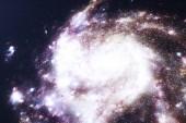 Fotografie 3D obrázek galaxie ve vesmíru. Spirální galaxie sestávající z Hvězdný prach, mlhovina plynu. Pojem cesty do hlubokého vesmíru. Vědecké koncepce. Prvky tohoto obrázku jsou podle Nasa