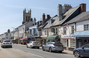 High Street Honiton, Devon, England, UK,