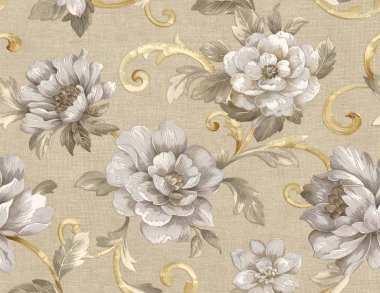 Decorative seamless pattern with beautiful roses