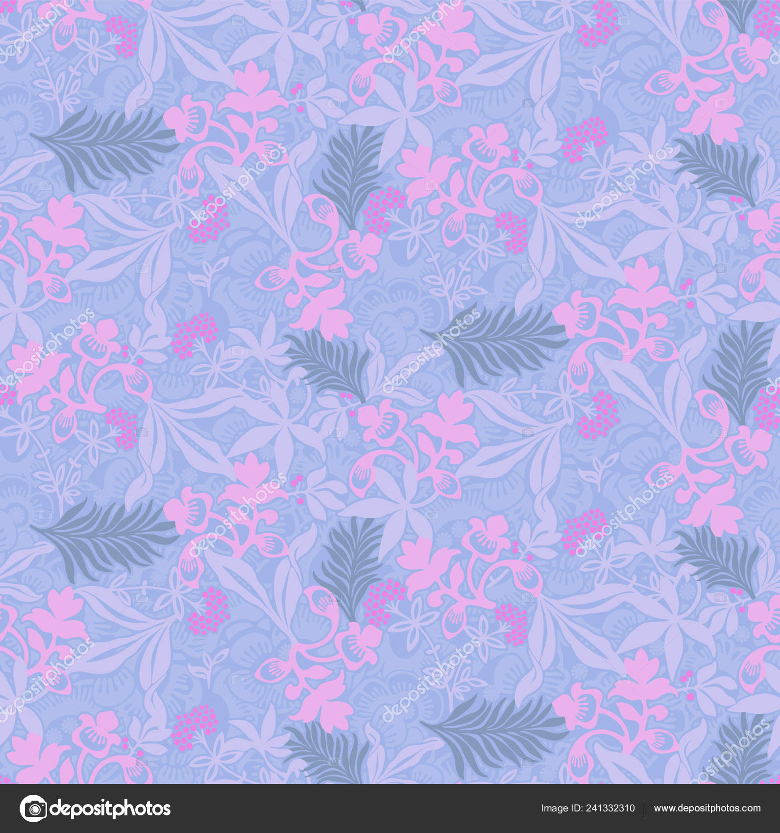 Pastel Floral Seamless Wallpaper Tropical Leaves Pink Neon