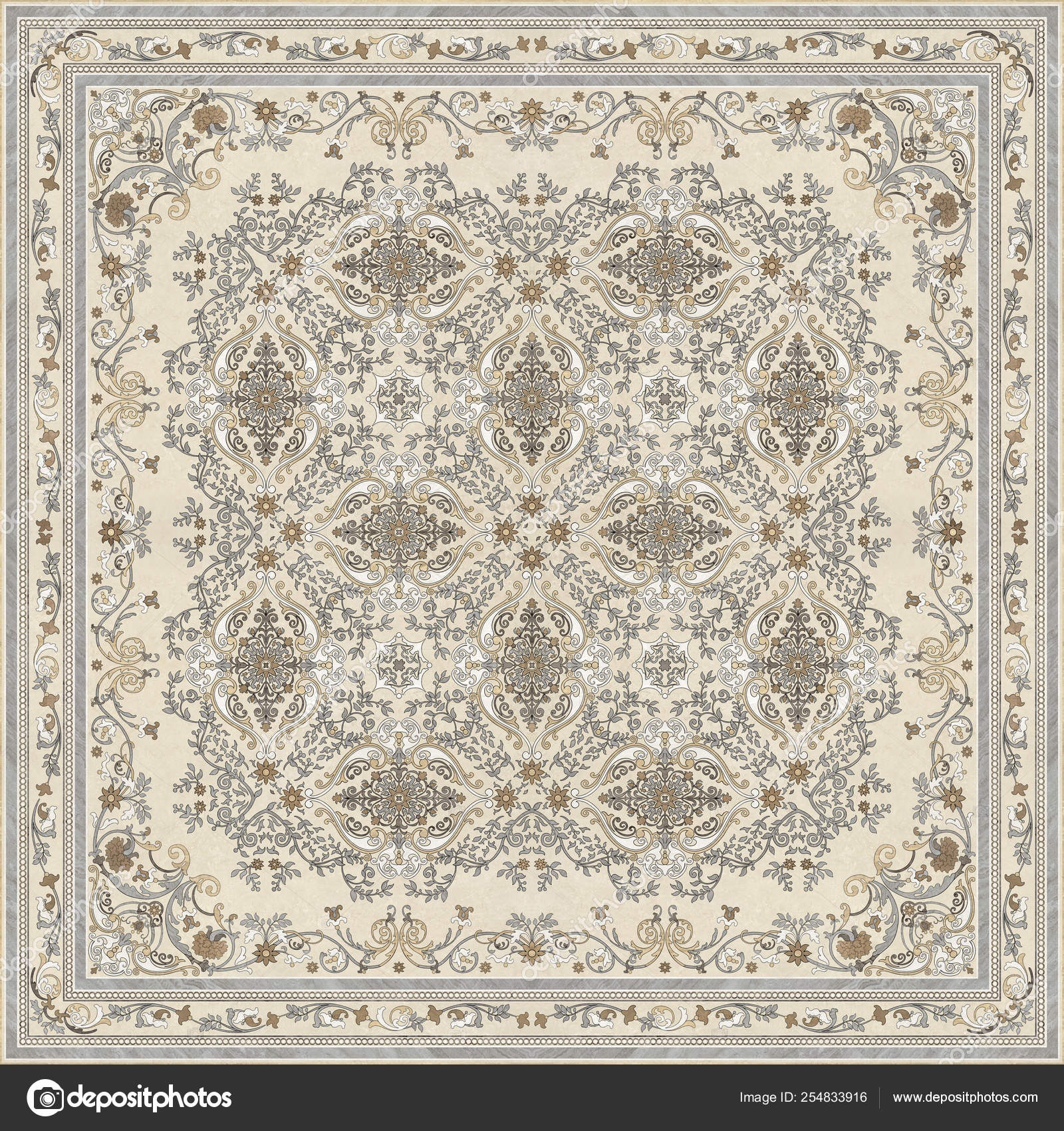Carpet Texture Abstract Ornament Modern Trendy Ancient Motifs Carpet Rug Stock Photo C Av Designer 254833916