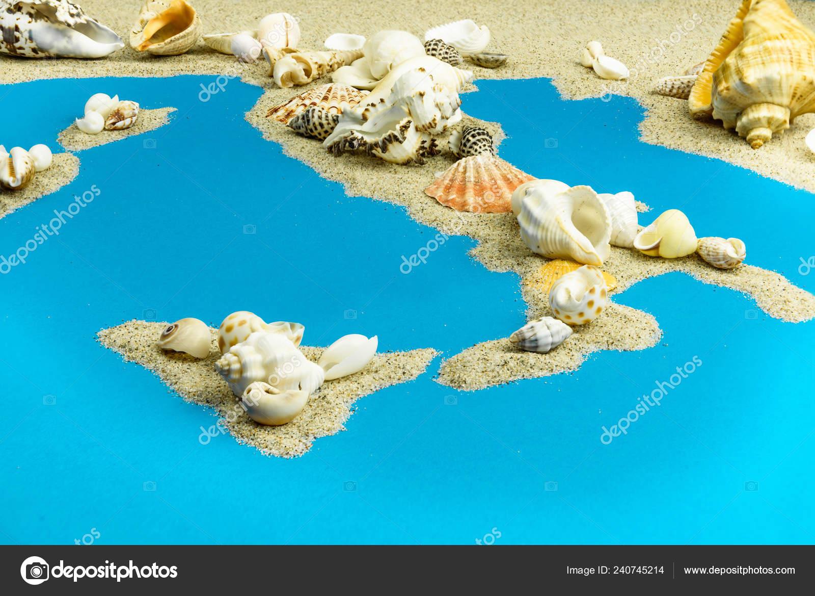 Mittelmeer Karte Inseln.Karte Von Italien Und Die Inseln Mittelmeer Von Sand Der
