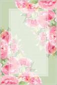 Akvarelu čajové růže růžová Pivoňka květ květinové kompozice snímku hranice pozadí šablony