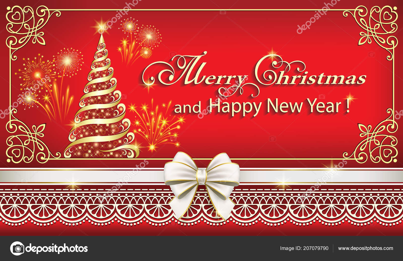 Merry Christmas Happy New Year Background 2019 Vector Illustration ...