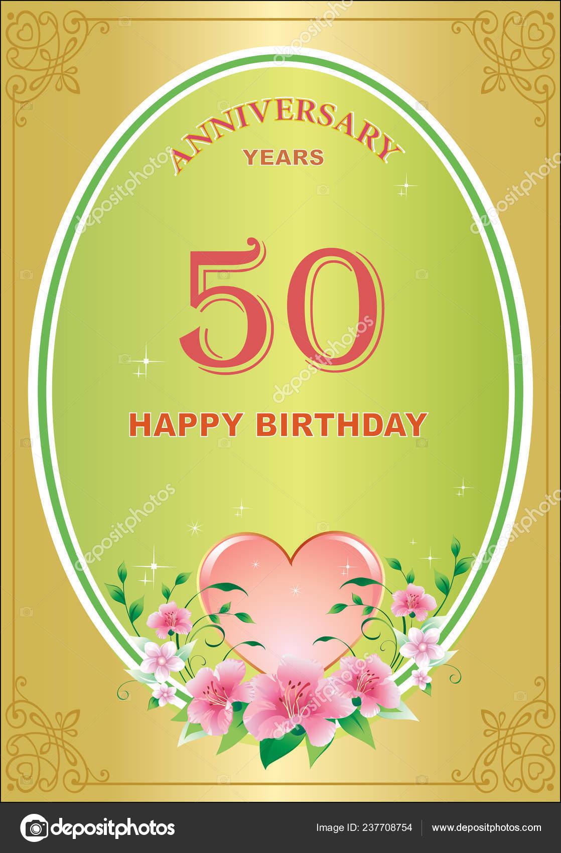 Jubilaum Jahre Geburtstag Hintergrund Grusskarte Feier Urlaub Vektor