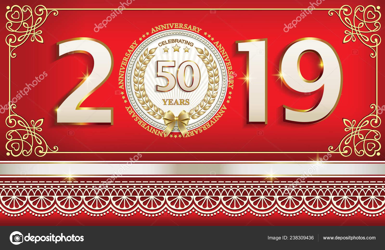 Años Aniversario Cumpleaños Celebraciones Diseño Vectores