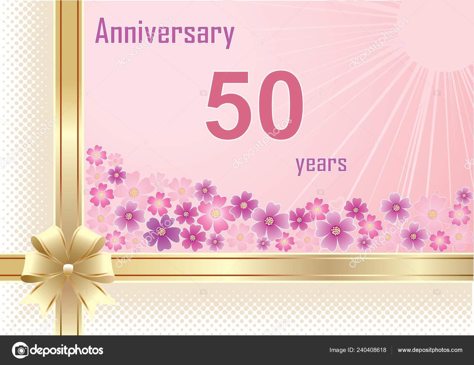 Tarjetas Florales De Cumpleanos 50 Años