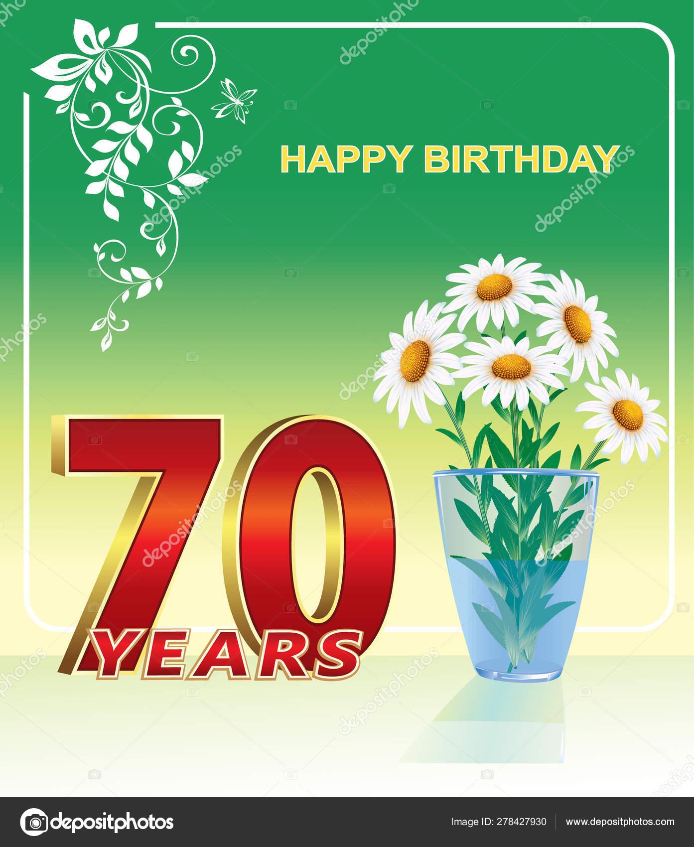 Auguri Buon Compleanno 70 Anni.Anniversario 70th Buon Compleanno 70 Anni Festa