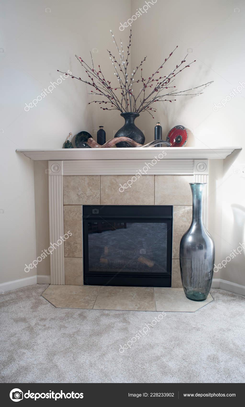 Pictures Corner Fireplace Decorating Ideas Corner Fireplace Bottle Decor Stock Photo C Lawcain 228233902