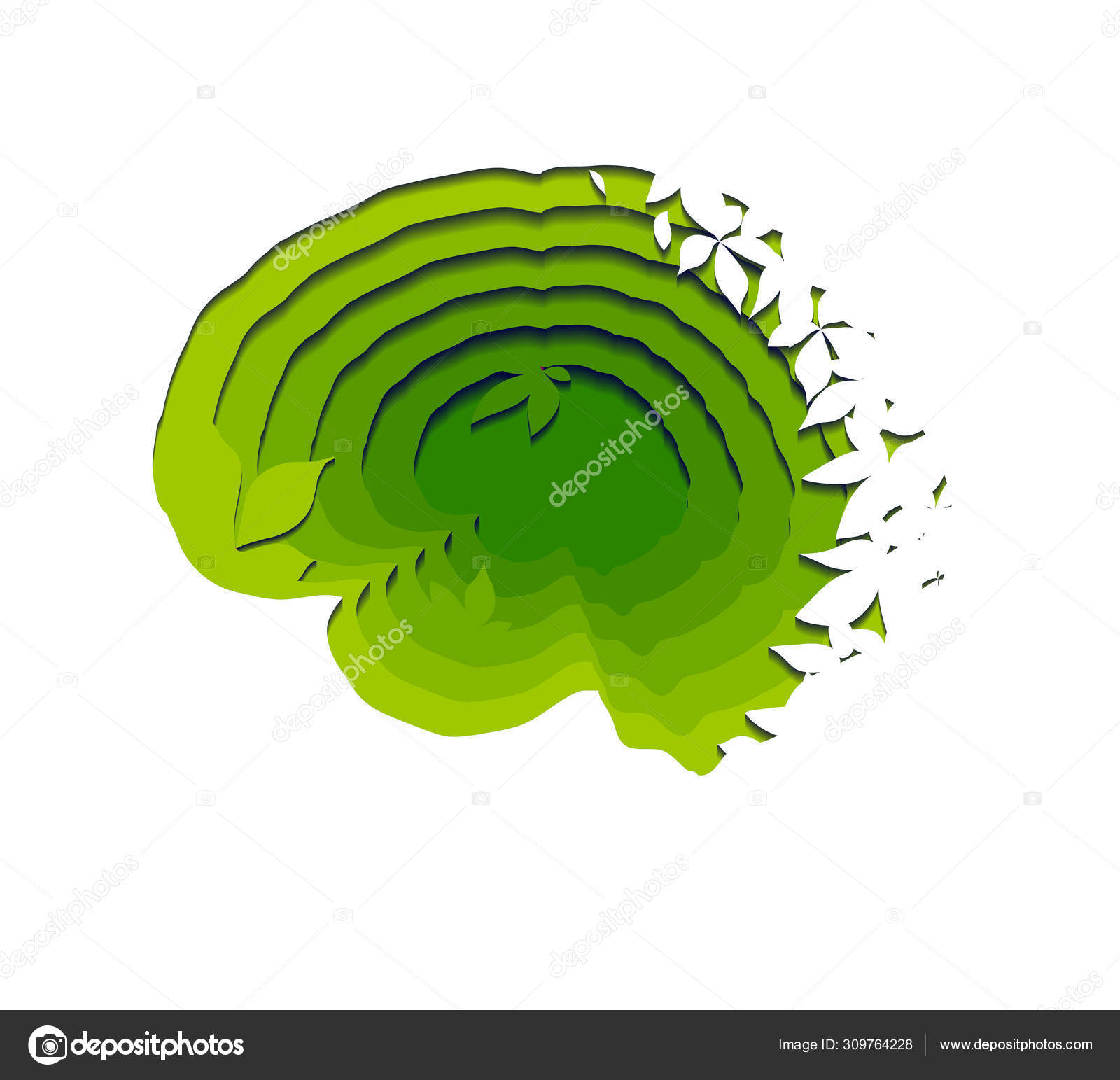 Feuille Stratifié Blanc Brillant cerveau éco-humain stratifié découpé sur papier avec des