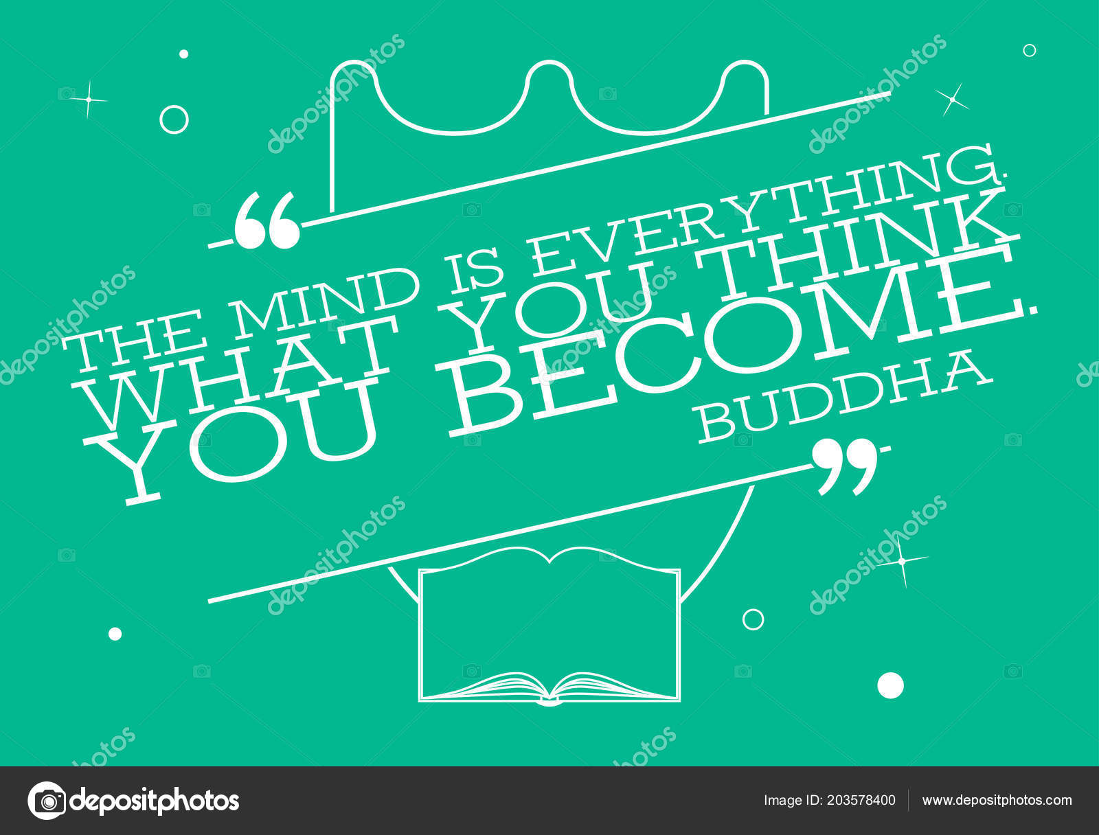 Vector Quote Template Bubble Buddha Quote Mind Everything What You